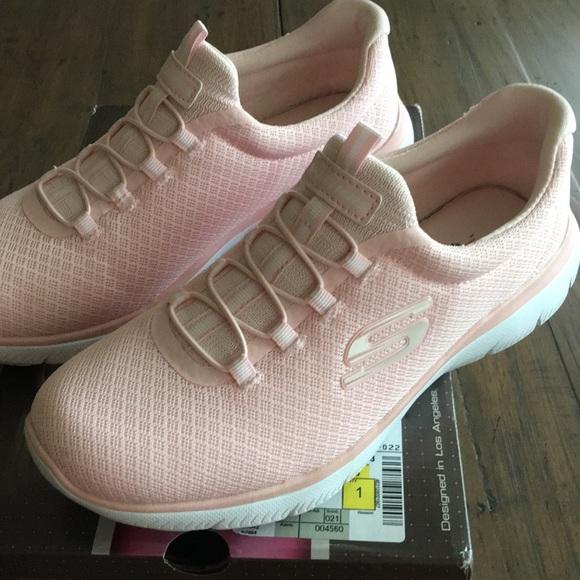 skechers pink memory foam